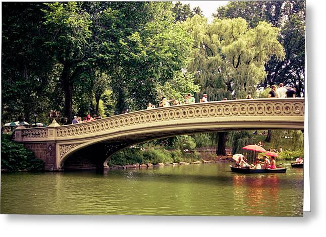 Central Park Romance - Bow Bridge - New York City Greeting Card by Vivienne Gucwa