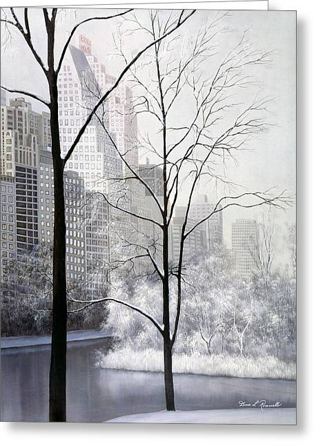Central Park Vertical Greeting Card by Diane Romanello
