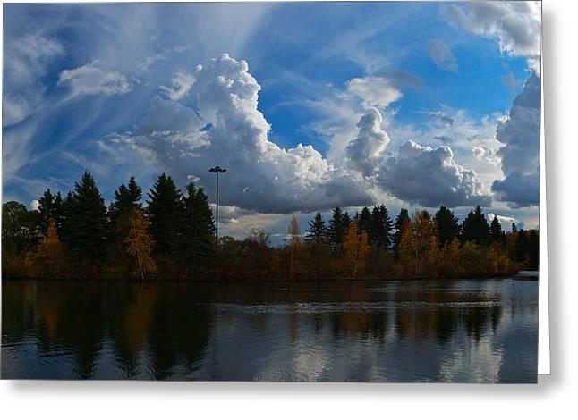 Central Pond Hawrelak Park Edmonton Greeting Card
