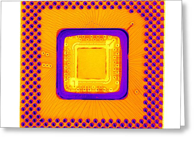 Central Processor Greeting Card by Ted Kinsman