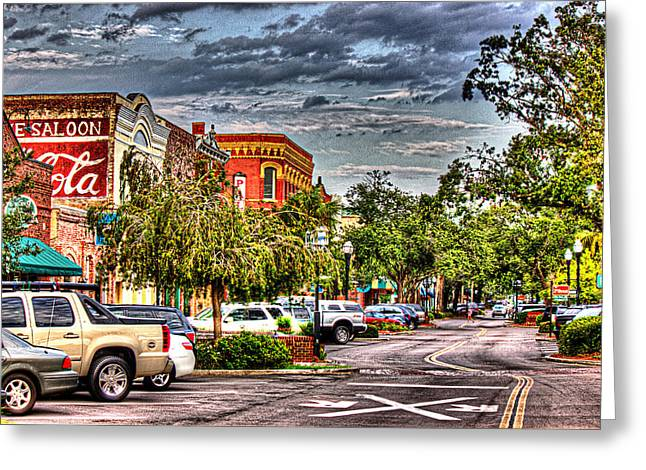 Centre Avenue Greeting Card by Barry Jones