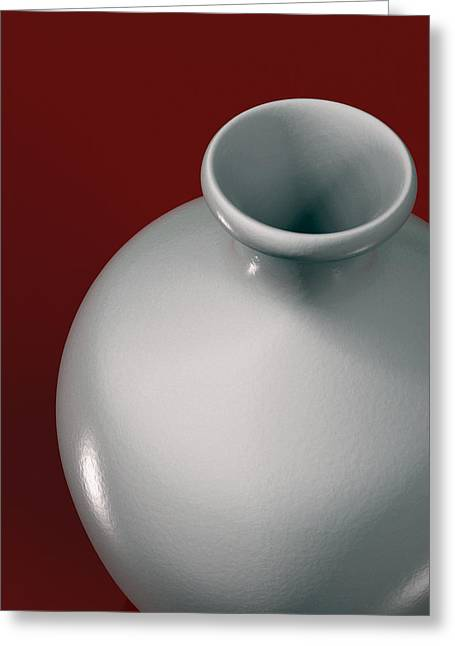 Ceramic Vase  Greeting Card