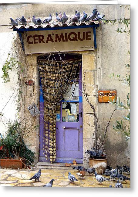 Ceramique Greeting Card by Lainie Wrightson
