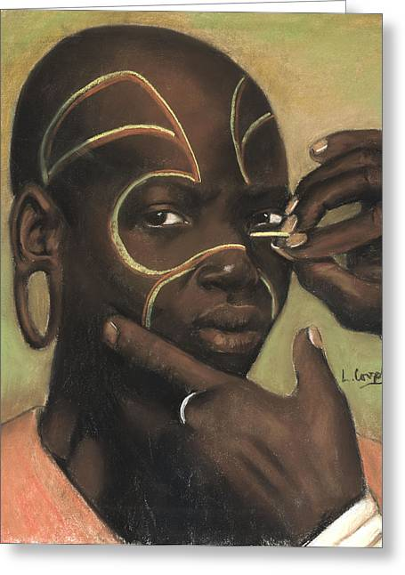 Ceremonial Makeup No 1 Greeting Card by L Cooper