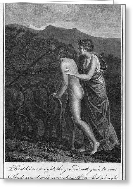 Ceres And Triptolemus Greeting Card by Granger