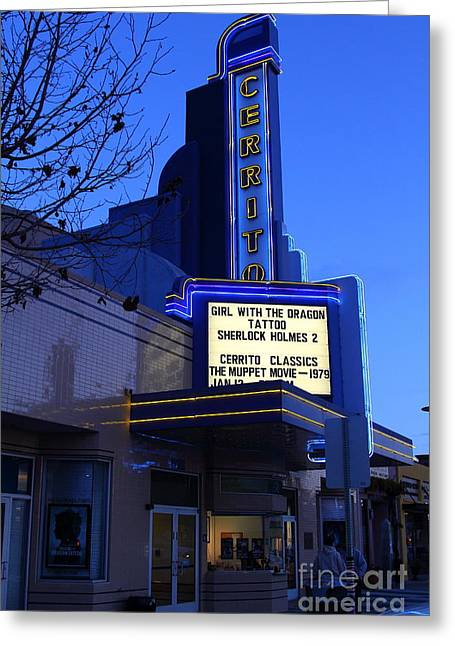 Cerrito Theater In El Cerrito California . 7d11035 Greeting Card by Wingsdomain Art and Photography