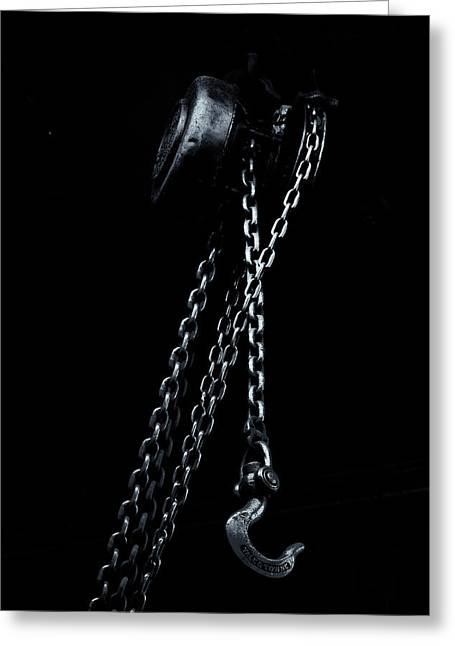 Greeting Card featuring the photograph Chain And Hook by Tom Singleton