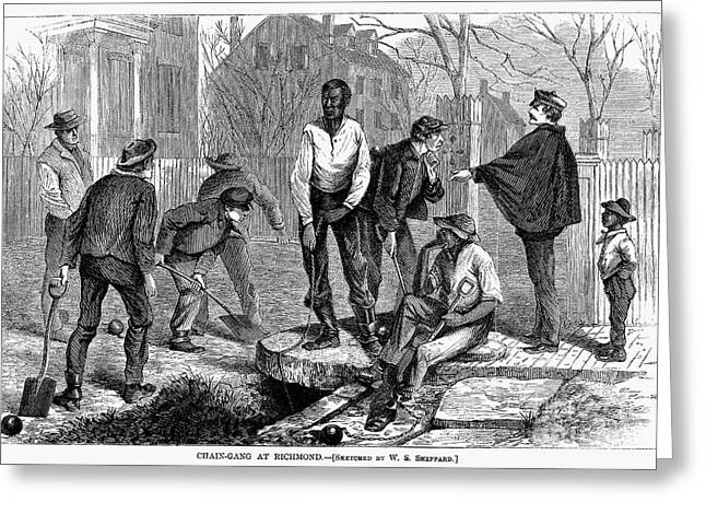 Chain Gang, 1868 Greeting Card by Granger