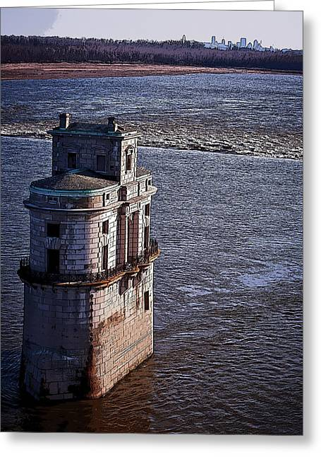 Chain Of Rocks East Water Tower Greeting Card