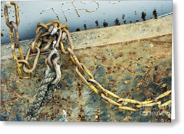 Chain Over Ship's Side Greeting Card