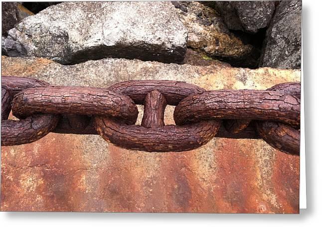 Chain Under The Golden Gate Bridge Greeting Card by Bill Owen