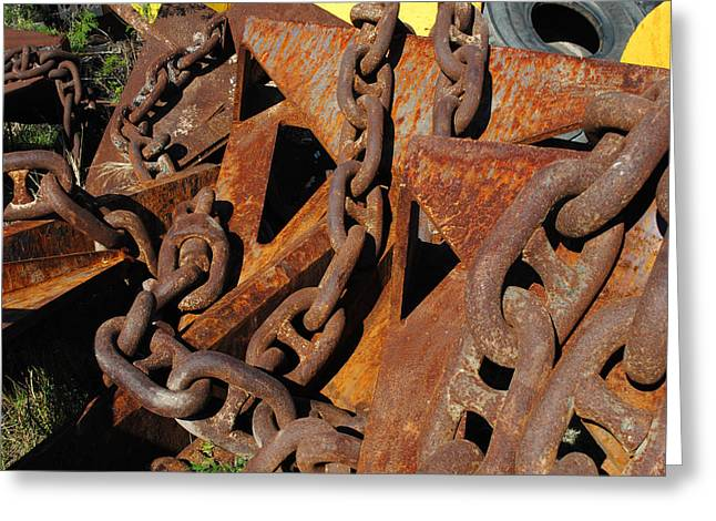 Chains And Anchors Greeting Card