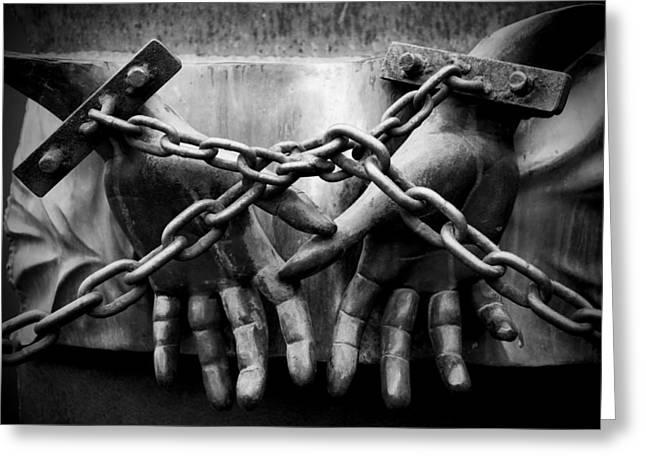 Chains Greeting Card by Fabrizio Troiani