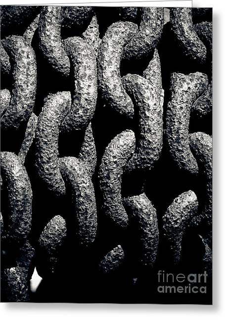 Chains Greeting Card by John Buxton