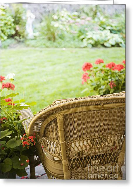 Chair Facing Yard Greeting Card by Andersen Ross
