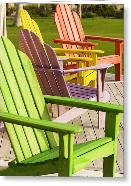 Chairs Greeting Card by Joe Coca