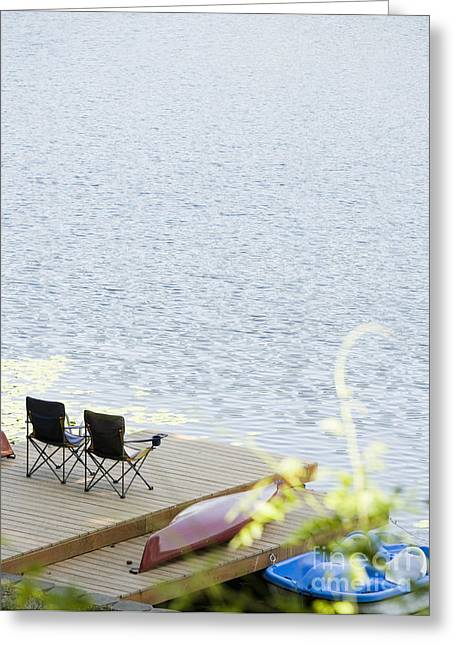 Chairs On Deck Greeting Card by Andersen Ross