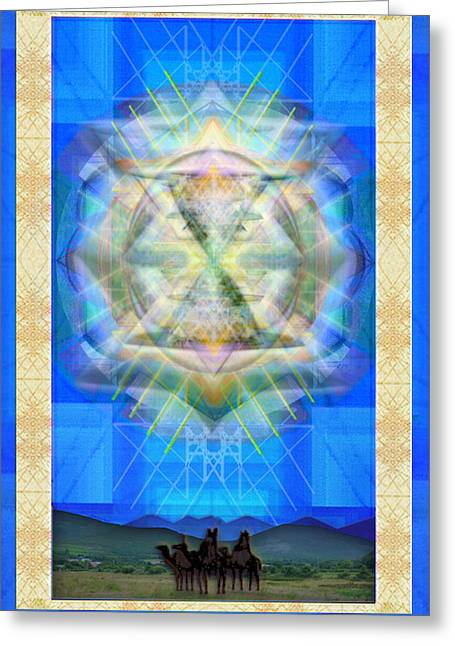 Chalice Star Over Three Kings Holiday Card Ix Greeting Card