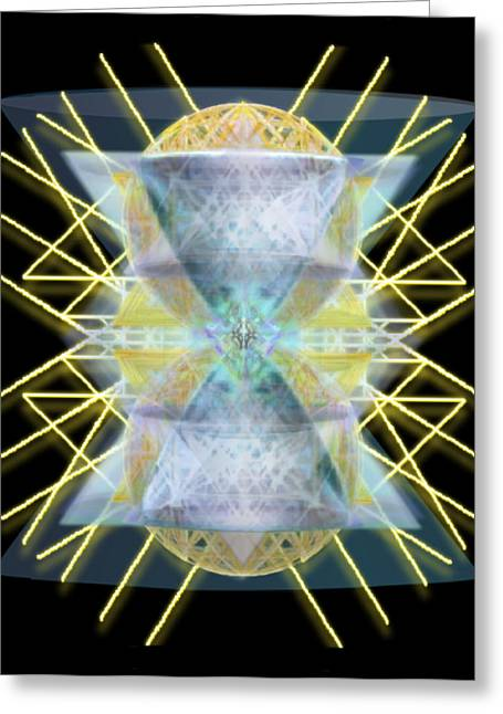 Chalices From Pi Sphere Goldenray II Greeting Card