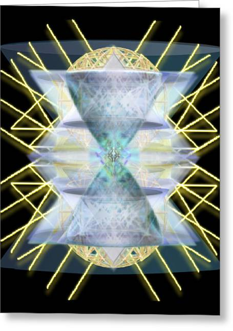 Chalices From Pi Sphere Goldenray IIi Greeting Card by Christopher Pringer