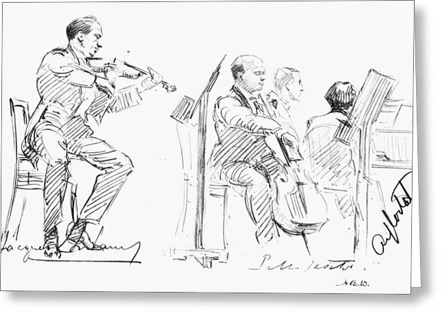 Chamber Musicians, C1935 Greeting Card by Granger