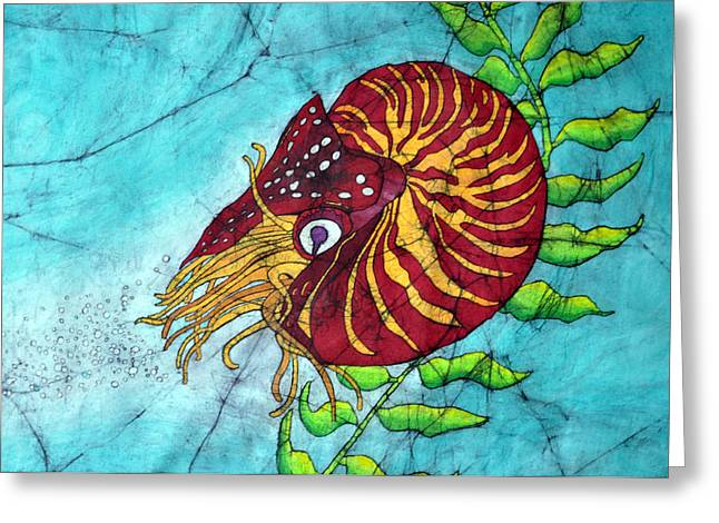 Chambered Nautilus Greeting Card by Shari Carlson