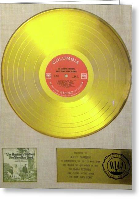 Chambers Brothers Gold Record Greeting Card