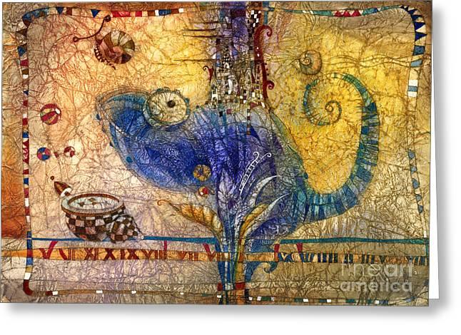Chameleon Greeting Card by Svetlana and Sabir Gadghievs