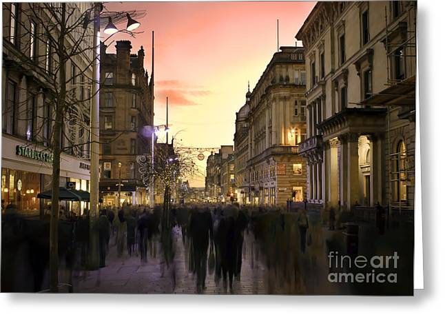 Chaos In The City Greeting Card by Radoslav Toth