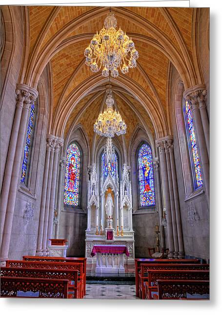 Chapel At Sacred Heart Cathedral Greeting Card by Dave Mills