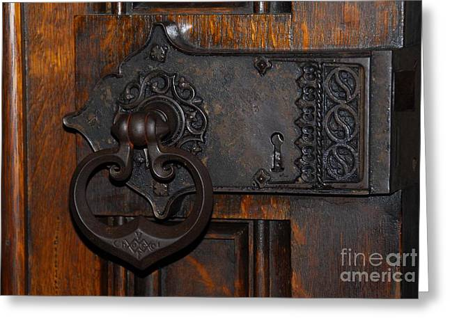 Greeting Card featuring the photograph Chapel Door by Cindy Manero