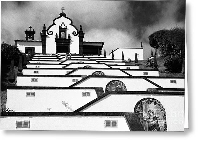 Chapel In Azores Greeting Card by Gaspar Avila