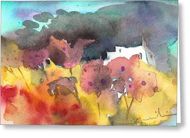 Chapel On Planet Goodaboom Greeting Card by Miki De Goodaboom