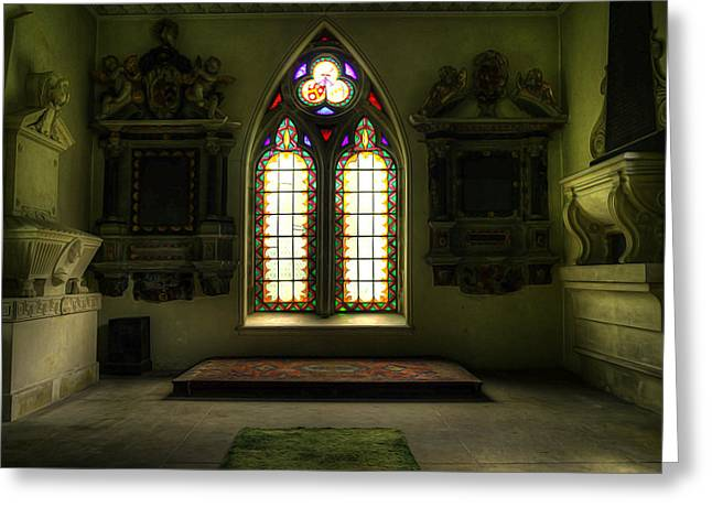 Chapel Room Greeting Card by Svetlana Sewell