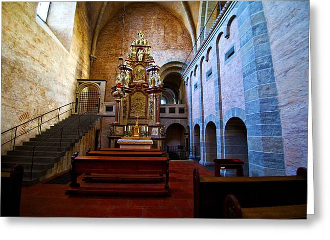 Greeting Card featuring the photograph Chapel Trier Dom by Rick Bragan