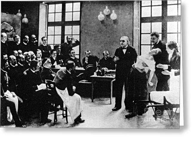 Charcot Demonstrating Hysterical Case Greeting Card
