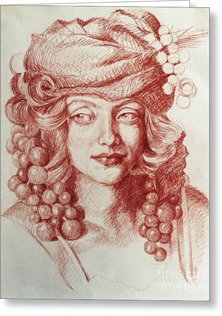 Chardonnay Greeting Card