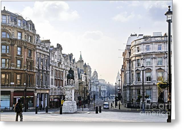 Charing Cross In London Greeting Card by Elena Elisseeva