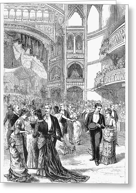 Charity Ball, 1880 Greeting Card