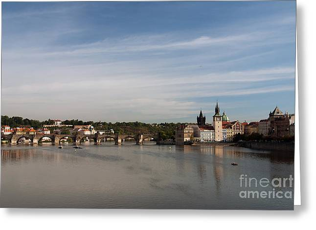 Charles Bridge Greeting Card by Ivy Ho