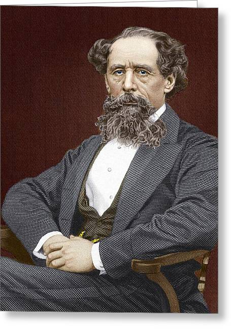 Charles Dickens, British Author Greeting Card by Sheila Terry