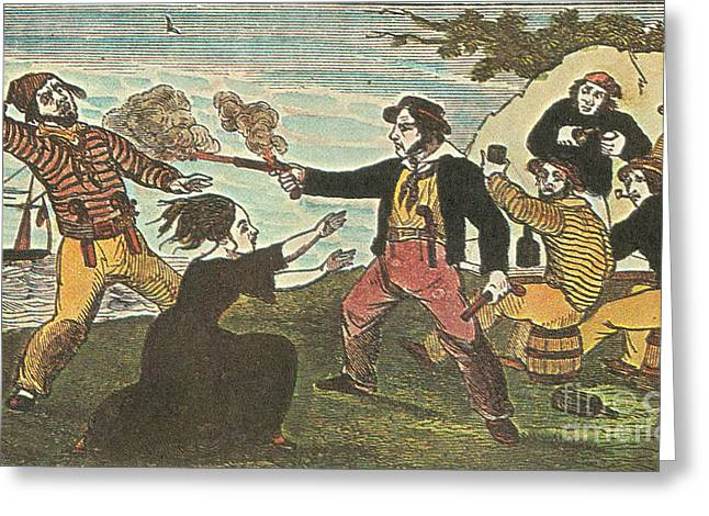 Charles Gibbs, American Pirate Greeting Card by Photo Researchers