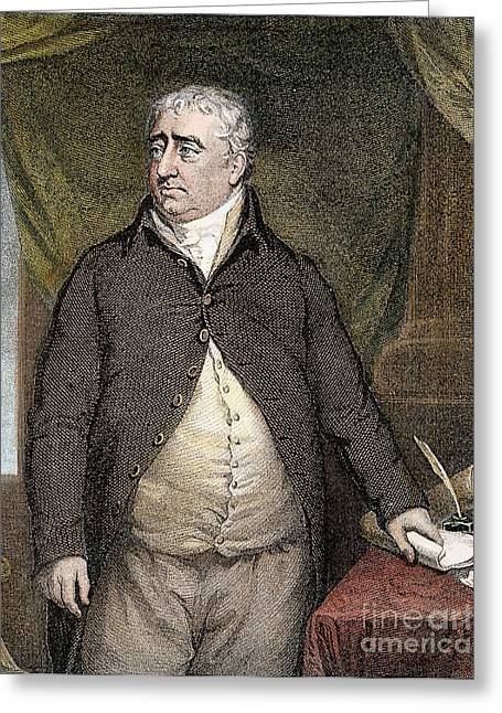 Charles James Fox Greeting Card by Granger