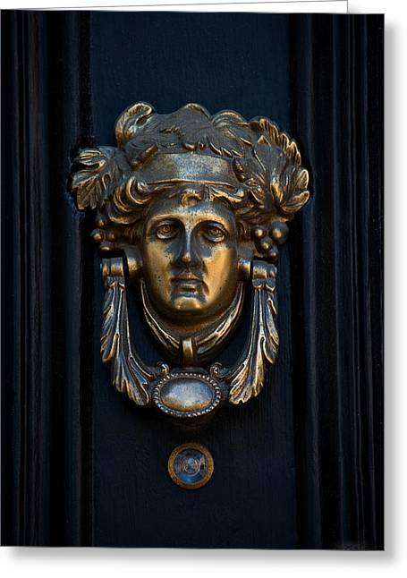 Charleston Brass Door Knocker Greeting Card by Melissa Wyatt