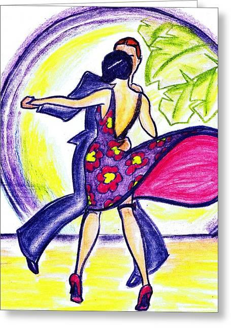 Charleston Dancers Greeting Card by Mel Thompson