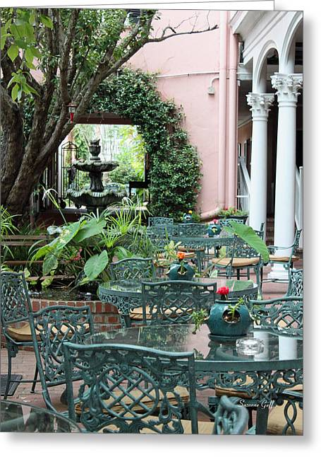 Charleston Dining Greeting Card by Suzanne Gaff