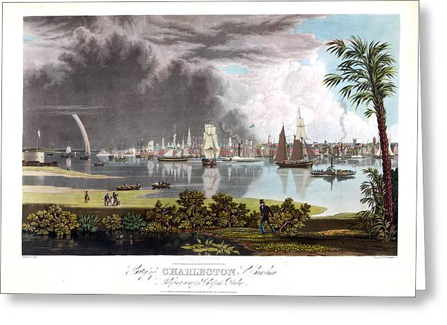 Charleston Harbor Greeting Card by Charles Shoup