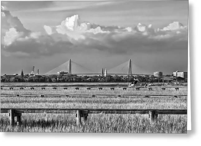 Charleston Skyline Greeting Card by Drew Castelhano