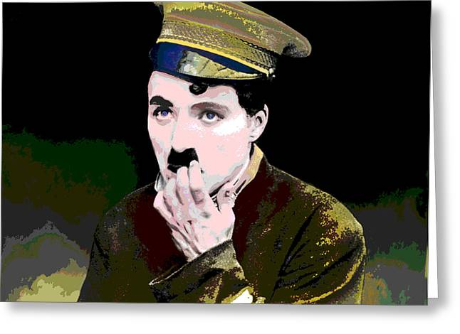 Charlie Chaplin Greeting Card by Charles Shoup