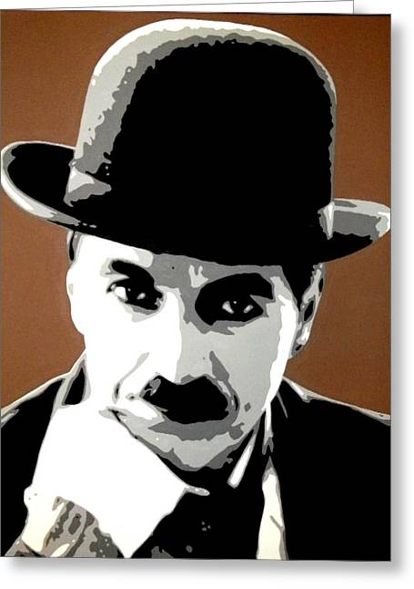 Charlie Chaplin Greeting Card by Dan Carman